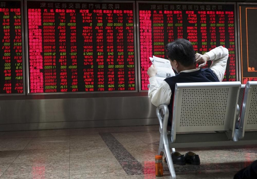 Китайская биржа падает