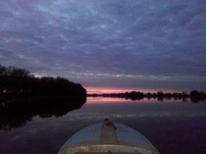 вечерний закат. возвращение с Рыбалки.