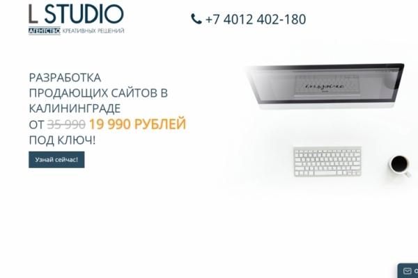 Веб-студия в г. Калининграде (Агентство Креативных Решений L STUDIO)